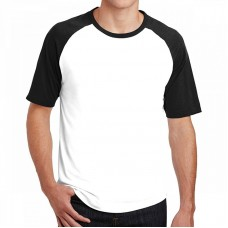 Custom men white and black t-shirt