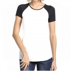 Custom Women white and black t-shirt
