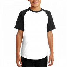 Custom youth white and black t-shirt