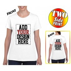 Custom 2 sided T-Shirts for Women - DESIGN YOUR OWN SHIRT