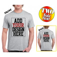 Custom 2 sided T-Shirts - DESIGN YOUR OWN SHIRT - FRONT and BACK Printing on Shirts